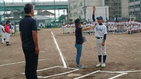 2016年9月大六リーグ開会式 選手宣誓! 主将 伊藤基佑