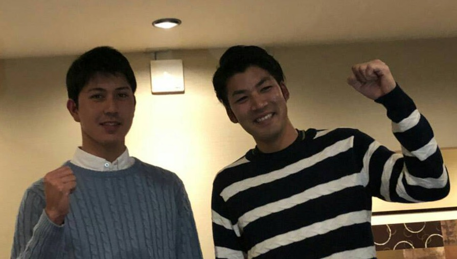 安江さんと石田さん 激励会 2017/12/30